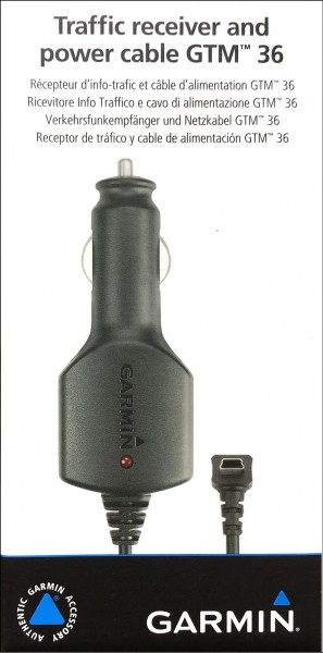 Garmin GTM 36 traffic receiver+ power adapter car charger