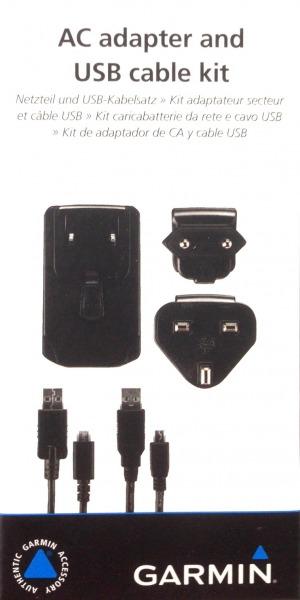 Garmin AC Adapter + USB Cable f. Garmin Edge Explore 1000